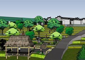 美丽乡村梯田景观生态公园节点方案设计七