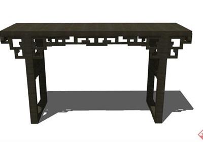 独特古典中式风格详细的木质桌子su亿博网络平台
