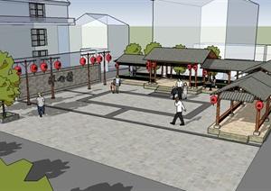 美丽乡村文化小广场亭廊空间景观设计