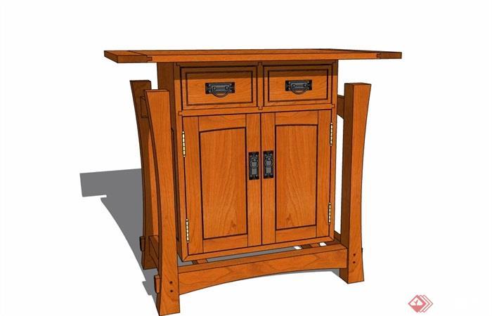 中式风格多个不同的柜子设计su模型