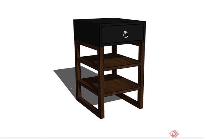 中式多個不同的柜子設計su模型