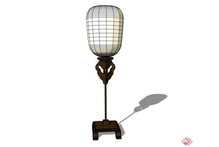 中式風格多個詳細的燈具素材su模型