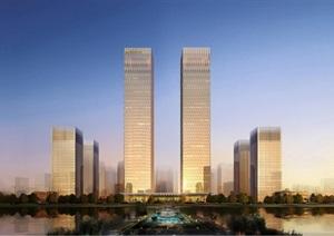 绿地大庆 超高层办公楼设计