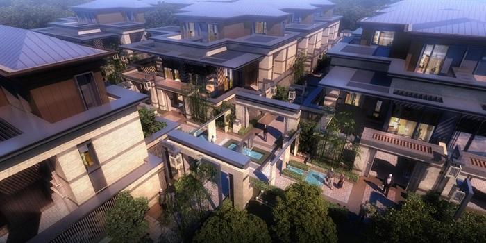 上海信达·泰禾新江湾新中式别墅群建筑与景观方案SU亿博网络平台(1)