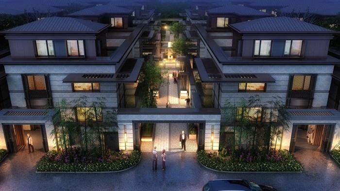 上海信达·泰禾新江湾新中式别墅群建筑与景观方案SU亿博网络平台(3)