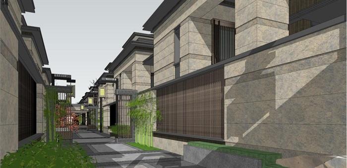 上海信达·泰禾新江湾新中式别墅群建筑与景观方案SU亿博网络平台(6)