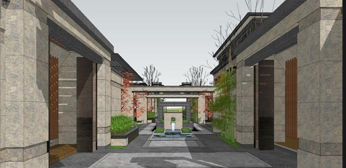 上海信达·泰禾新江湾新中式别墅群建筑与景观方案SU亿博网络平台(7)