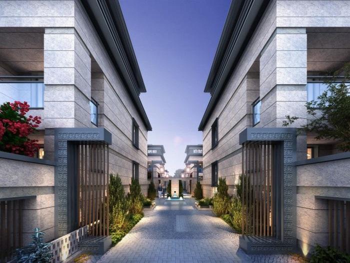 上海信达·泰禾新江湾新中式别墅群建筑与景观方案SU亿博网络平台(12)