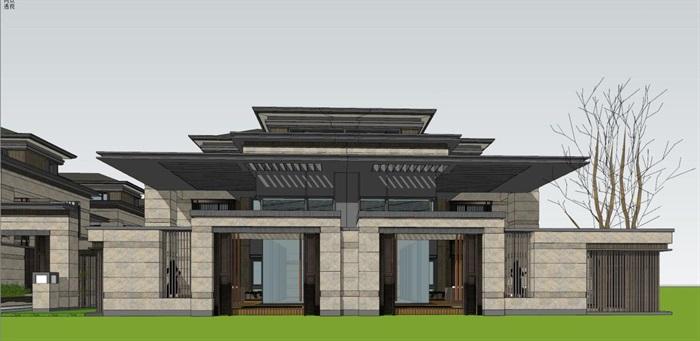 上海信达·泰禾新江湾新中式别墅群建筑与景观方案SU亿博网络平台(13)