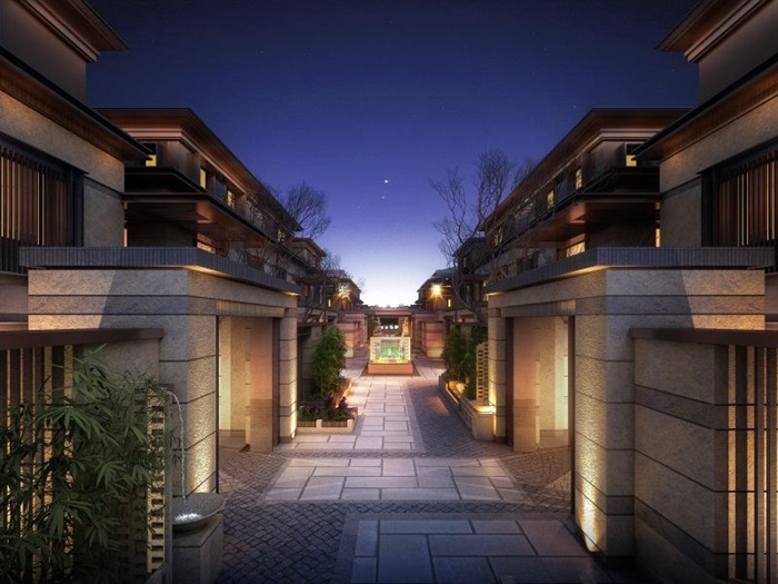 上海信达·泰禾新江湾新中式别墅群建筑与景观方案SU亿博网络平台(15)