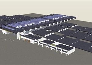 苏州火车站建筑方案SU(草图大师)模型