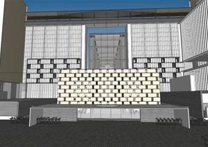 南京现代风格涵碧楼酒店建筑方案SU(草图大师)模型