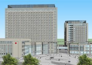 現代風格醫院建筑設計方案SU(草圖大師)模型
