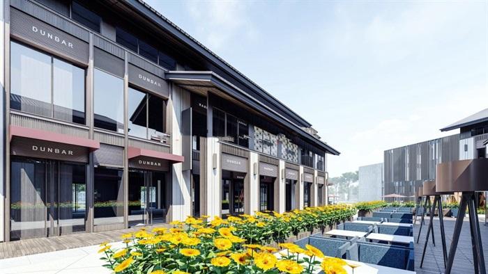 新中式商业街建筑与景观方案SU模型(10)