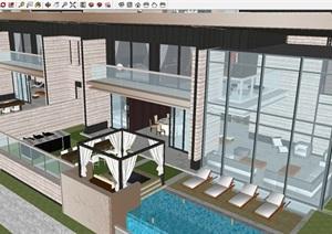重庆蔡家万科17英里洋房+高层+联排建筑方案SU(草图大师)模型