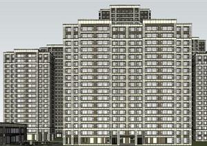 合肥肥西融创玖樟台现代高层+洋房豪宅建筑方案SU(草图大师)模型