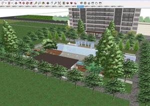 苏州金科仁恒浅棠平江现代高层+洋房豪宅项目建筑与景观SU(草图大师)模型