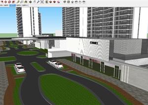 現代風格融創中心武漢壹號院高層豪宅項目建筑方案SU(草圖大師)模型