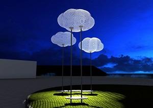 云朵休憩设施(云朵坐凳、云朵秋千)