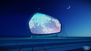 户外广场LED异形显示屏设计
