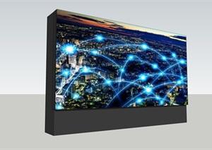 户外广场LED显示屏(窄边框)