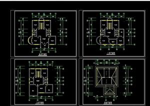 多层住宅别墅cad平面方案图