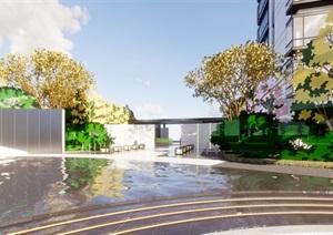 杭州钱江景瑞天赋世纪城售楼示范区建筑与景观方案SU(草图大师)模型