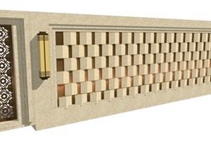 欧式风格详细的亭子景墙素材设计SU(草图大师)模型