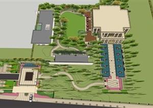 某详细的售楼处景观详细设计SU(草图大师)模型