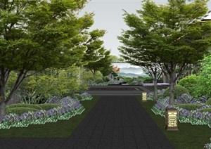 南宁联发西棠春晓示范区建筑与景观SU(草图大师)模型