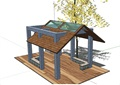 中式风格详细的完整亭子设计su模型