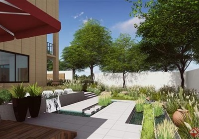 某详细的别墅庭院景观设计su模型