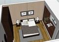 现代风格室内住宅卧室空间装饰su模型