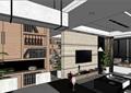 现代风格室内住宅空间装饰su模型