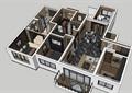 現代風格室內住宅空間裝飾設計su模型