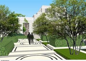 南通中南万科大都会示范区建筑与景观SU(草图大师)模型