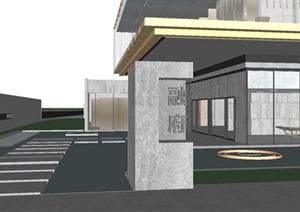 青岛融创中央活力区示范区建筑与景观SU(草图大师)模型
