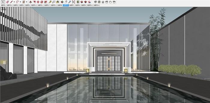 绍兴阳光城·檀院新中式别墅+洋房与示范区建筑与景观SU亿博网络平台(6)