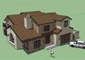 私人欧式风格详细别墅详细建筑su模型