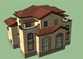 西班牙独栋别墅详细建筑su模型