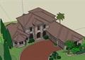 欧式风格私人别墅详细建筑su模型