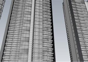 深圳华侨城新天鹅堡现代高层豪宅与幼儿园建筑方案SU(草图大师)模型