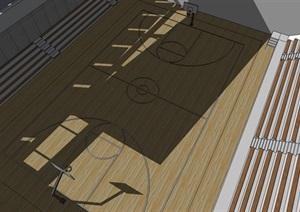 室内篮球场精细模型---------------内容丰富详细,具有很高的学习价值,值得下载