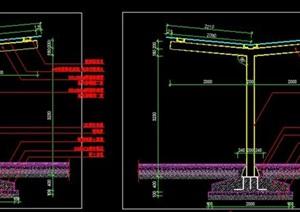 钢结构非机动电瓶车电动车充电车棚车库棚架施工图详图