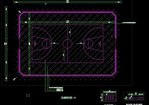 篮球场含截水沟排水沟挡土墙施工图做法详图