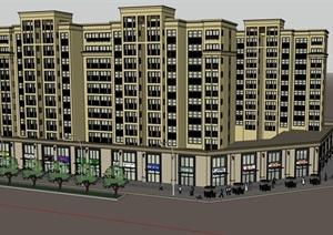 商业住宅完整住宅楼设计SU(草图大师)模型