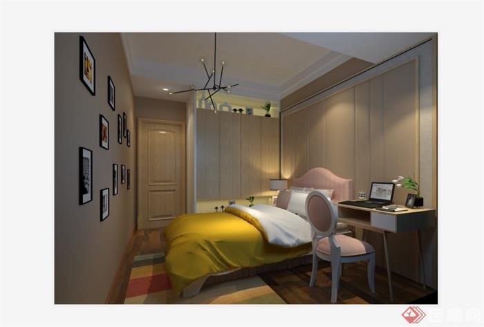 現代風格住宅完整室內空間設計su模型