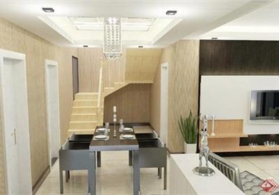 現代風格住宅客廳室內空間設計su模型