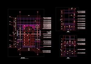 歐式法式ARTDECO風格入口大門門衛崗亭保安亭含結構施工圖詳圖