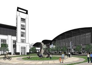 某市现代风格坪山体育中心方案